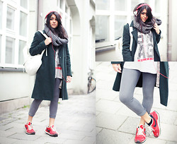 Naina Kamath - Thrifted Wool Coat, Asos T Shirt, Skullcandy Headphones, Nike Sneakers - Swag For Days