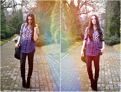 Mayaandsusannah Xxxxx - H&M Shirt, Tally Weijl Skinnies, Wedges, Reserved Bag - Cause even forever ain't forever
