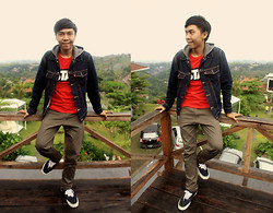 Chandra Pramana Putra - Levi's® Jacket, Vans Shoes, Estate T Shirt - Lawang wangi