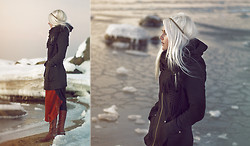 Kadri S - Vero Moda Coat, In Love With Fashion Dress, Tamaris Boots - Frozerene, frozen & serene