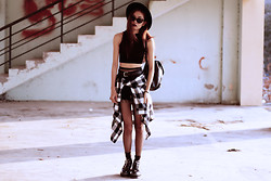 Vu Thien - Ecugo Top, Levi's® Vintage Levi's Shorts, Aggy Boots, Thrift Store Shirts, Vesst Stockings - YOU'RE NOT THE ONE