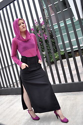Lizzie Lo - Hussein Chalayan Top, Rick Owens Skirt, Yves Saint Laurent Shoes - Orchid