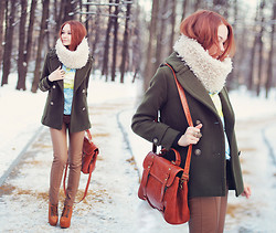 Lidia ♫♪♫ - Woakao Coat, Chic Wish Sweater, Choies Pants, Udobuy Boots, Asos Snood, Persun Bag -  wind of change