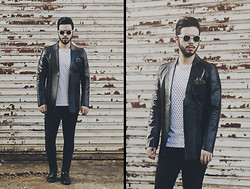 Anderson Gimenez - Ray Ban Sunglass, Zoomp Blazer, Zara T Shirt, Topman Jeans, Zara Shoes - It´s now or never