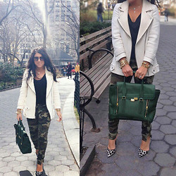 Tiffany - Zara Combination Jacket, 3.1 Phillip Lim Pashli, Schutz Printed Pumps - It's A Jungle Out There