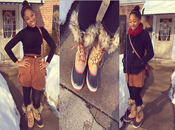 Lisaxhayden . - Sorel Lace Up Boots, Dooney & Bourke Leather Satchel - Cinnamon&Spice