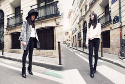 Lydia Marceau - Sheinside Coat, Choies Blouse, Sacha Boots - Pieces of Gold