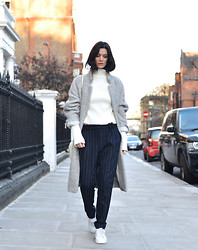 Hedvig ... - Mango Wool Trousers, Céline Sweater, Ganni Coat, Adidas Sneakers - Stanified