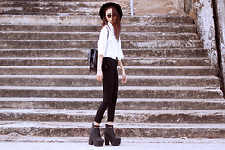 Vu Thien - Vesst Crop Shirt, Zara High Jeans, Asos Boots - ANOTHER B&W DAY