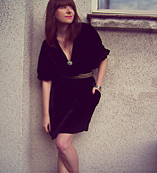 Ewa B - Second Hand Black Velvet Dress, Mohito Belt - Before I Ever Met You...by Banks