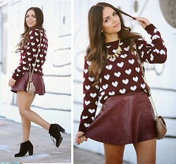 Daniela Ramirez - Chuu Heart Sweater - Valentine's day ready!