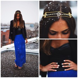 Joëlle Desrosiers - Forever 21 Cobalt, Editorial Boutique Bustier, Rachel Roy Black, Eugenie Bee Crown - Boho chic