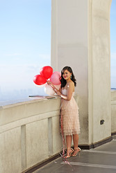 Olivia Yuen - H&M Dress, Asos Shoes, Baublebar Earrings - Blush Amour