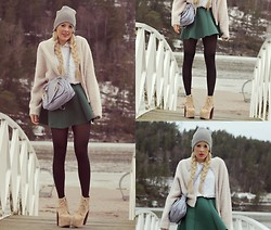 Julie W - H&M Beanie, H&M Jacket, Chloé Bag, Choies Skirt, Jeffrey Campbell Shoes - Wintertime sadness