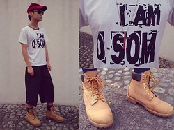 Aloy Chua - Adidas Baseball Cap, University Homeroom Shirt, Bench Cross Necklace, Timberland Work Boots - Who are you?
