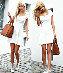 Daisy R. - In Love With Fashion White Dress, Tessamino White Shoes -  ON THE WHITE TRAIN