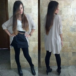 Pahola Villamizar - Black Skirt (Diy), Boots!, Topic Top Sweater - Happy Valentines