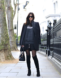 Hedvig ... - By My Mum Knit, Acne Studios Skirt, Stuart Weitzman Boots - Marius and Diamonds
