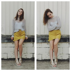 Isabella Wight - Cheap Monday Sweater, Three Of Something Skirt, Guess? Sandals - We Are Golden