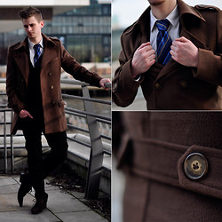 Denis Blaaine Spencer - Tailor4less - Brown coat