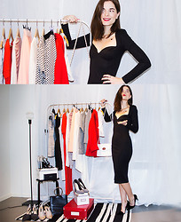 Ingrid Wenell - Asos Black Sweetheart Dress, Have2have Black Cut Out Pumps, New Look Striped Pumps, Zara Nude Pumps, Zara Grey Pumps, Calvin Klein Sporty Pumps - ♡ Our love for fashion brought us together! ♡