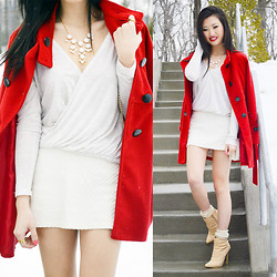 Cece Lam - Shoedazzle Andi, Garage Cross Over Shirt, Tilly's Bauble Necklace - Crave you