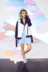 Dani Roche - Forever 21 Jacket, Forever 21 Dress, Forever 21 Shoes - Baby Blue
