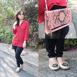 Michelle Lara Tan - Bayo Top, Uniqlo Jeans, Tory Burch Ballet Flats, Coach Bag - Post Valentine's Day Look