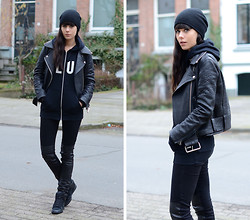 Lucy De B. - Wood Hoodie, Acne Studios Leather Jacket - Club