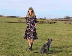 Thomasina S - The Bohemian Collective Necklace, Zara Dress, New Look Boots - Country Girl Take My Hand