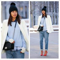 Annabelle Fleur - Bcbg Hat, Equipment Sweater, Equipment Shirt, Chanel Bag, Saks Gloves - NEW YORK BLUES