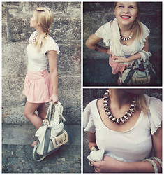 Dunja Grm - Renini Bag, Zara Shoes, H&M Necklace, H&M Top, H&M Shorts/Skirt - Opportunities.
