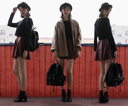 Maria Joanna - Sh Backpack, M&S Coat, H&M Hat, Stradivarius Top, Forever 21 Skirt, H&M Boots - There's a way...