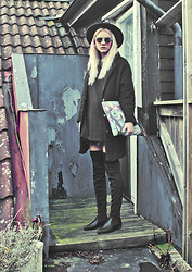 Malin Z - H&M Hat, Sheinside Coat, Snupped Clutch/Laptop Sleeve, Ebay Over Knee Boots - You Know You Like It