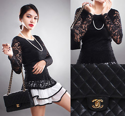 Cy Rasella - Ana.S.Tia Dress, Chanel Bag - BlackWhite
