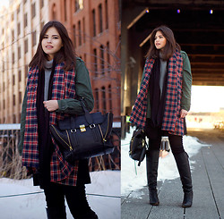 Adriana Gastélum - 3.1 Phillip Lim Pashli Messenger, Fake Leather Full List Of Brands Of What I'm Wearing - Six layers on High Line
