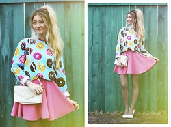 ♡Anita Kurkach♡ - Breaking Rocks Sweater, Vateno Skirt, Vintage Bag, Vintage Shoes - Sugar morning.