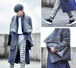 Mc kenneth Licon - Forever 21 Coat, Forever 21 Sweaterpants, Forever 21 Platform Shoes - Layers and Textures