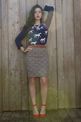 Piper Arielle - Old Navy Sweater, Forever 21 Pencil Skirt, The Limited Belt - A Horse Of Course!