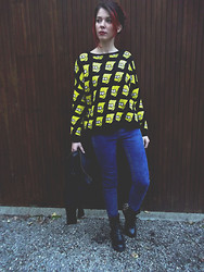 Kelly R. - Pull & Bear Denim, Ebay.Us Spike Boots, Leather Crop, Mina Simpson - I'm Bart Simpson