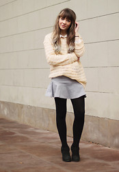 Stine Mo - Monki Sweater, Gina Tricot Skirt, Urban Outfitters Boots - Just casual thursday
