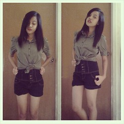 Ritzel Marri Dris - Thrifted Top, High Waist Shorts - One Fine Day