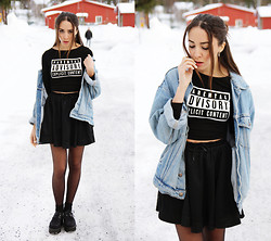 Malin E. - H&M Top, Weekday Skirt, Shoes, Thrift Store Jacket - Parental Advisory.