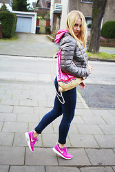 Maike L. - Nike Pink Rush Runs - Sporty look for the weekend