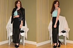 Rebecca Casserly - Urban Outfitters Maxi Skirt, Forever 21 Crop Top - Sheer Maxi