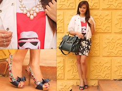 Danica Salazar - Candie's Floral Bandage Skirt, Parisian Satchel - Begin Again