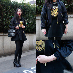 BORI S - Chanel Bag, Joyrich Top, H&M Outer, Monday Edition Acc - Bling-bling Goldlook!