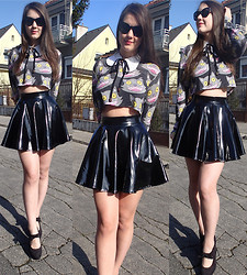 Patricia C. - Drop Dead Purrfect Top, Asos Pvc Skirt - A Love Like War