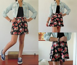 Rebecca S - Primark Jacket, Forever 21 Skirt, Primark Blue Shoes, Dorothy Perkins Bracelets - All about flowers
