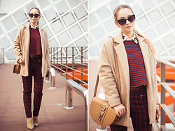Olga Choi - Dknyc Blouse, Chic Wish Sweater, Persun Bag, Zerouv Sunglasses, Choies Coat - Checking spring
